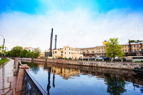 Embankment river Moyka and Back yard of Admiralty Shipyard, Saint Petersburg, Ru Wallpaper Mural