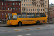 Yellow Bus For Transporting Ch...