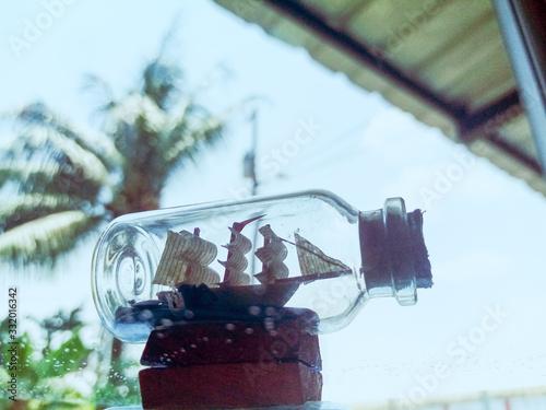 Photo barquito en el frasco