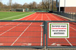 Sportplatz geschlossen wegen Corona Virus, Pandemie