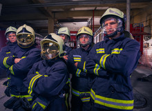 Portrait Of Group Firefighters...