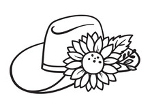 Cowboy Hat With Decorative Flo...