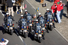 Police On Motorcycles At Phillies World Series Victory October 31, 2008 With Parade Down Broad Street Philadelphia, PA