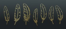 Outline Feathers Set