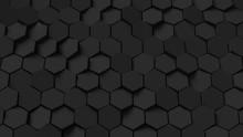 Abstract Black Hexagon Backgro...