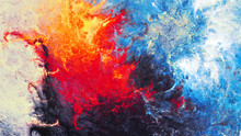Ice And Flame. Bright Artistic...