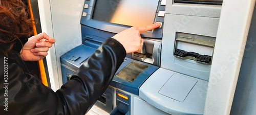 Fotografia, Obraz atm cash machine