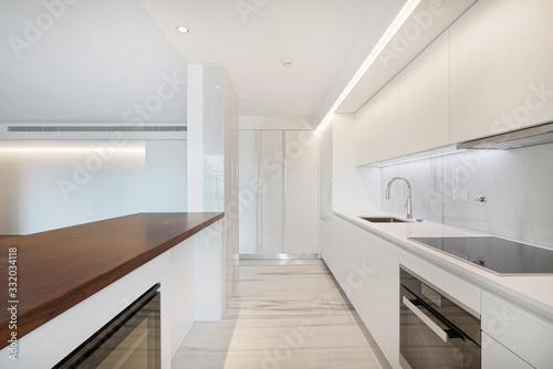 Interior de apartamento, cozinha moderna Canvas Print
