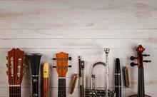 Instruments In White Wooden Ba...