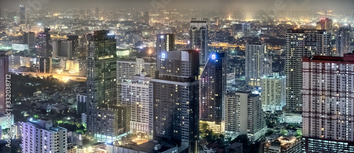 Night Glimpse of Bangkok Canvas Print