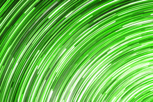 Abstract Round Circle Background. Retro Vinyl Disco Backdrop. Rotate Graphic Design. Spinning Neon Lights Texture. Green Disc Pattern. Led Glowing Lines.