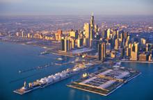 The Chicago Skyline At Sunrise...