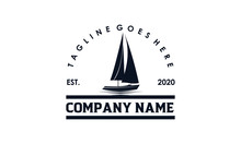 Simple Sailboat Logo Design Fo...