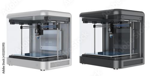 Fotografía 3d printer with injector nozzle