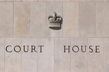 Court House Carved On Stone Bl...