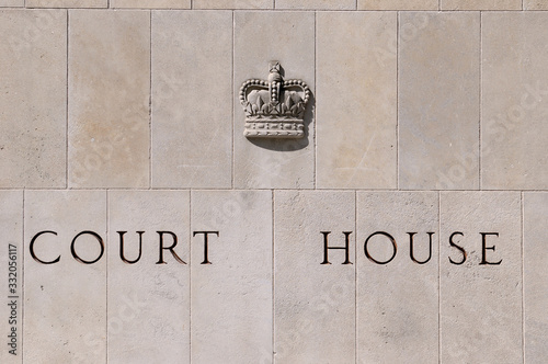 Cuadros en Lienzo Court house carved on stone blocks with royal emblem