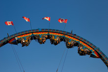 Riders Hanging Upside Down On ...