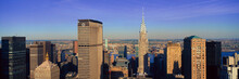 Panoramic Aerial View Of Chrysler Building And Met Life Building, Manhattan, NY Skyline