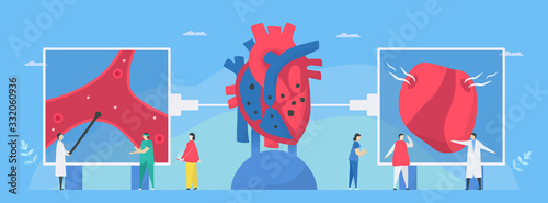 Photo Cardiology vector illustration
