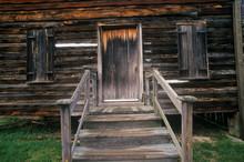 Entrance To Log Cabin In Historic Camden, SC
