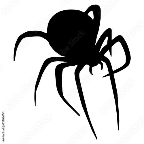 Cartoon Spider Clipart Canvas Print