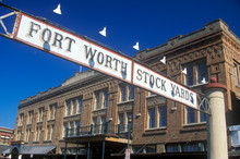 Banner At The Fort Worth Stock...