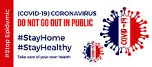 Coronavirus Banner For France. Stay Home