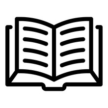 Open Thick Book Icon. Outline ...