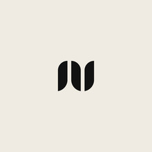 Logo Letter N And U With Unique Designs