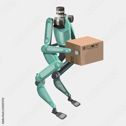 Photo Modern robots delivery methods