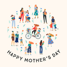 Happy Mothers Day. Vector Illu...