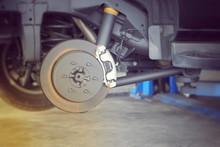 Car Brake Part At Garage,car B...