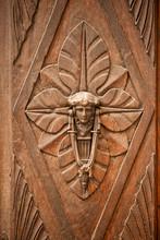 Art Deco Stlye Timber Door And...