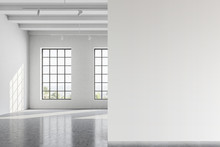 Empty White Office Room With M...