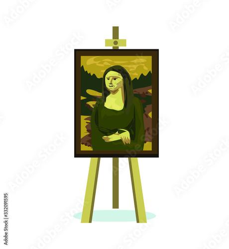 mona lisa renesance leonardo da vinci symbol abstract painting woman canvas on e Canvas Print
