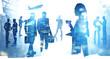 International business team, corporate life
