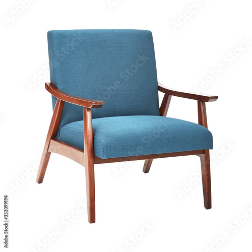 Mid Century Modern Chair Isolated on White Background Canvas Print