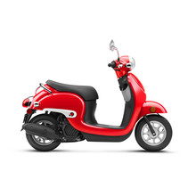 Red Scooter Isolated On White ...