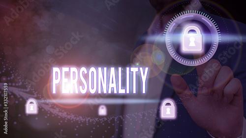 Obraz Handwriting text Personality. Conceptual photo combination characteristics that form individuals character - fototapety do salonu