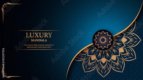 Photo Luxury mandala arabesque ornamental background
