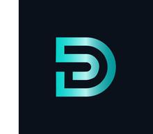 Letter D Digital Logo,