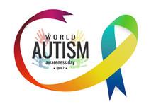 Autism Awareness Card Or Backg...