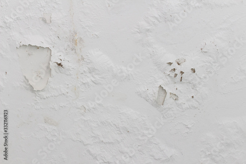 White concrete wall abrasion texture background Wallpaper Mural