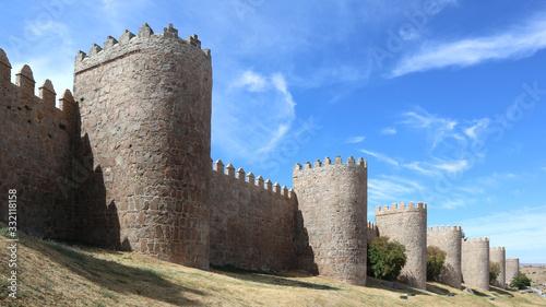 Mittelalterliche Stadtmauer von Avila, Spanien