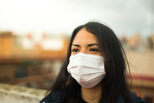 Young Latin Girl With Pollutio...