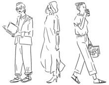 Fashion Illustration Vector Line Art(ファッションイラストベクター線画)