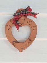Pottery Duck Heart
