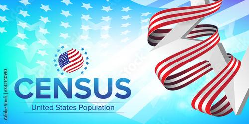 United States Population Census 2020 banner Canvas-taulu