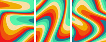Retro Colorful Abstract Art Te...