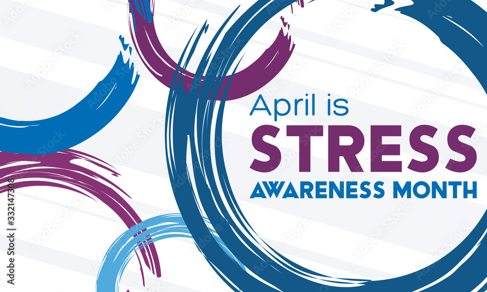 Fototapeta April is Stress Awareness Month. Poster, card, banner and background design.